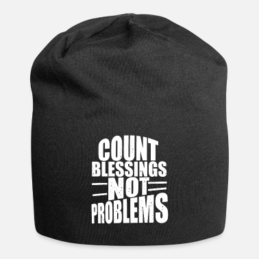 Count Royal count blessings problems motivational typography - Beanie