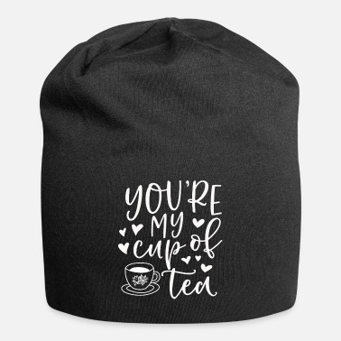 Tea Tea Time Funny Sayings teacup Teabag Gift - Beanie