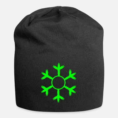 Green Snowflake winter cold green - Beanie