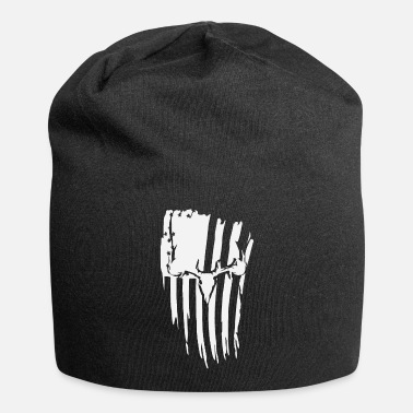 American Flag In Distress white tail deer distressed - Beanie