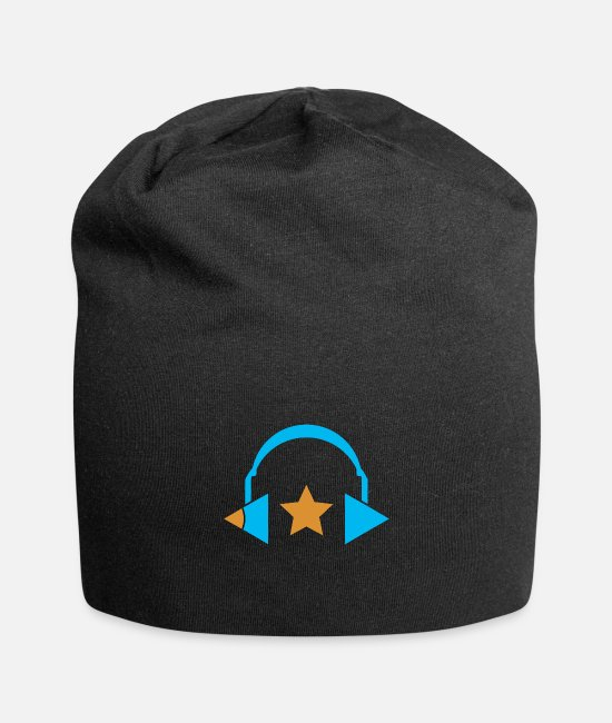 School Caps & Hats - Music Education Logo - Beanie black