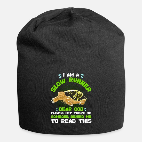 Turtle Caps - Slow Runner Please Let There Be Someone Behind Me - Beanie black