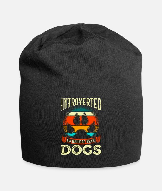 Reading Caps & Hats - Funny Introverted But Willing To Discuss Dogs - Beanie black
