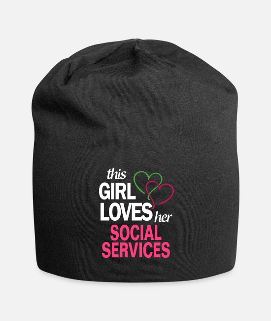 This Girl Loves Her SOCIAL SERVICES Caps - This girl loves her SOCIAL SERVICES - Beanie black