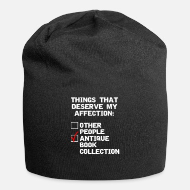 Antique Antique book collector funny collection design - Beanie