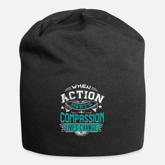 Symbol  Caps - Action Meets Compassion - Beanie black