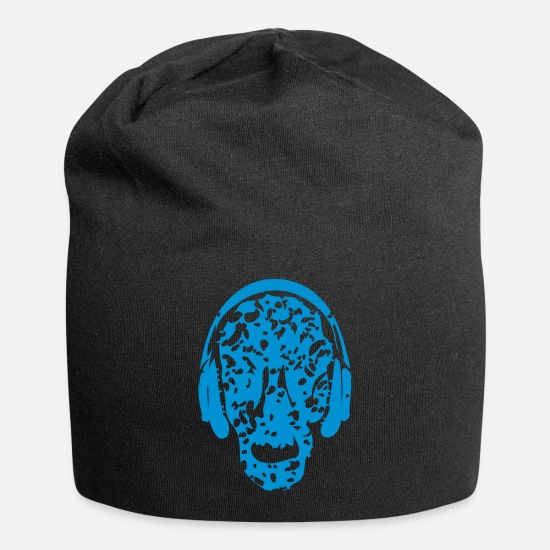 Cool-vintage-abstract-music-design Caps - ☠♥♫Keep Calm and Listen to Music-Vintage Skull♪♥☠ - Beanie black