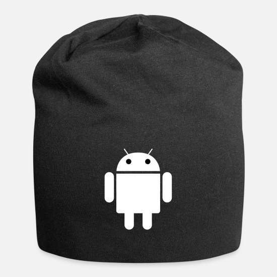 Android Caps - Android Icon - Beanie black