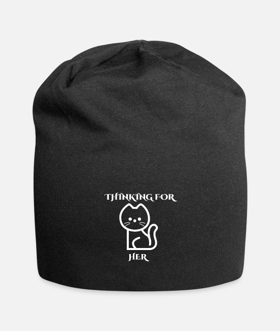 New Caps & Hats - THINKING FOR HER - Beanie black