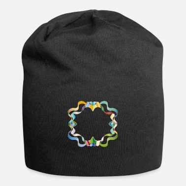 Element empty frame made of colorful shimmering ribbons - Beanie