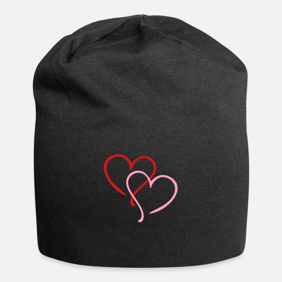 Heart Caps - Heart Hearts Love - Beanie black