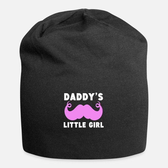 Pink Caps - Daddy's Little Girl Mustache - Beanie black