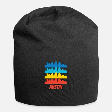 Austin Retro Austin TX Skyline Pop Art - Beanie