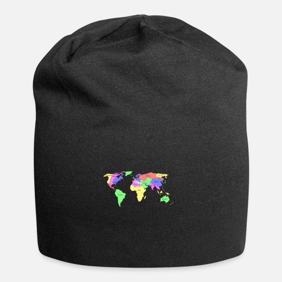 Map Caps - New world map - Beanie black
