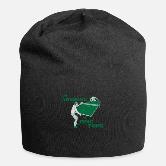 Ping Caps - I M AWESOME AT PING PONG - Beanie black