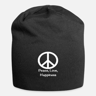 Beautiful Peace love happiness sign hippie - Beanie