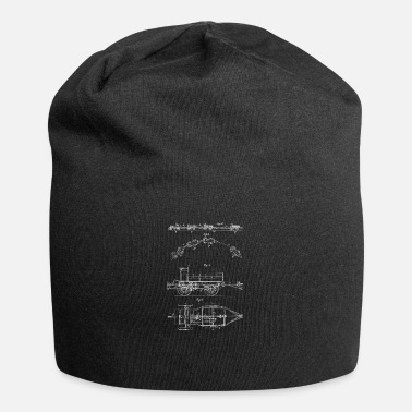 Steaming Vintage Steam Locomotive Patent Train Model Shirt - Beanie