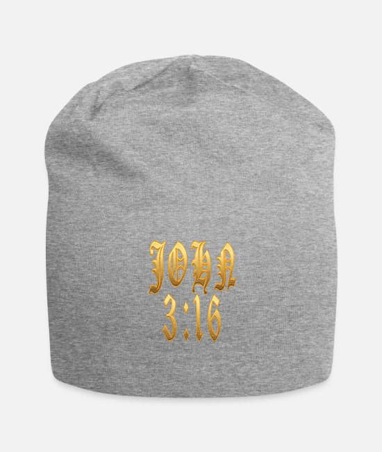 Church Caps & Hats - John 3:16 - Beanie heather gray