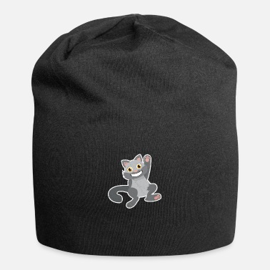 Hip Hands Up Cat School Student Funny Gift Idea - Beanie