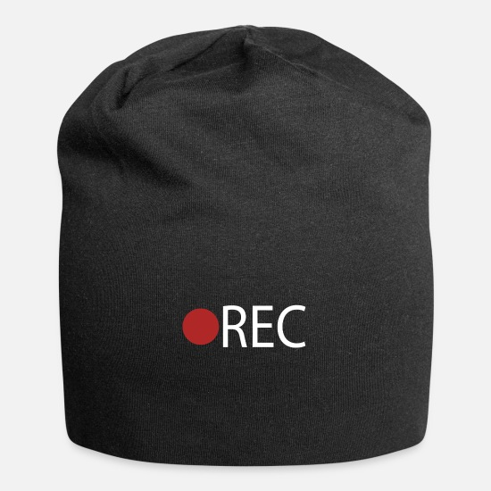 Video Caps - REC Record Recording - Beanie black