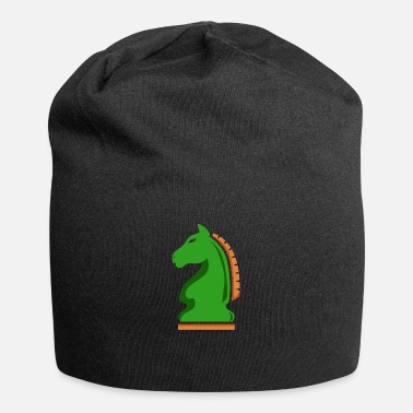 Medieval Chess Knight Horse Green Chess Player Gift Idea - Beanie