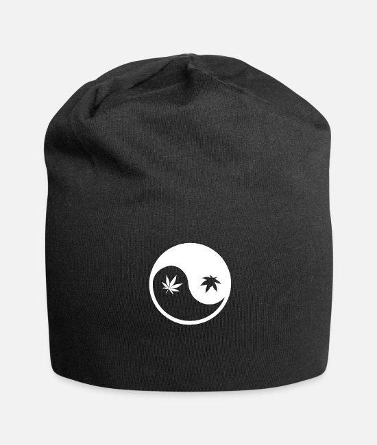Turn Table Caps & Hats - Ying yang - Beanie black