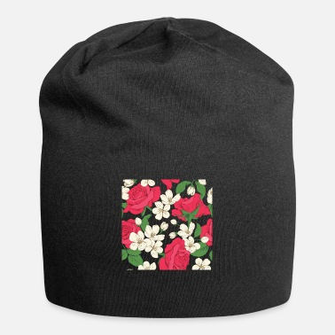 Seal Navy and white cherry blossom pattern - Beanie