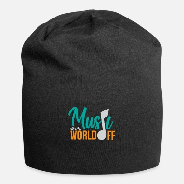 Daughter Music On World Off Music Lover Gift Idea - Beanie