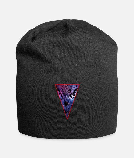 Hipster Caps & Hats - Triangle Owl - Bird - Hipster - Space - Cool - Beanie black
