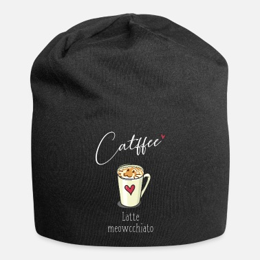 Latte Macchiato Cats Coffee Latte Macchiato Meow Coffee Cup Cat - Beanie