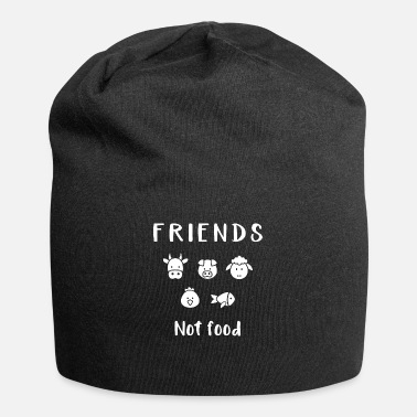 Food Friends not food | Vegan long shirt - Beanie