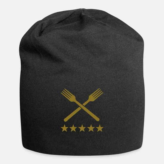 Coffee Caps - food deluxe forks - Beanie black