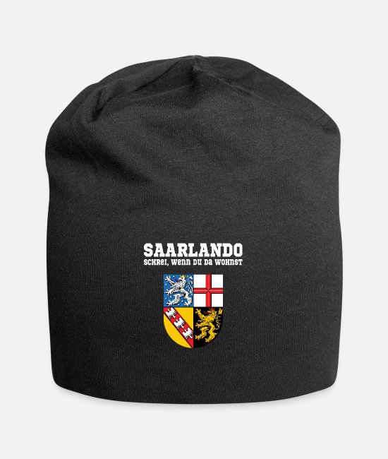 State Of Saarland Caps & Hats - Saarland - Coat of arms Saarland white - Beanie black