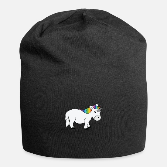 Color Caps - unicron with a rainbow tail - Beanie black