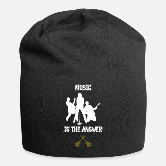 Death Metal Caps - MUSIC is the ANSWER!! - Beanie black