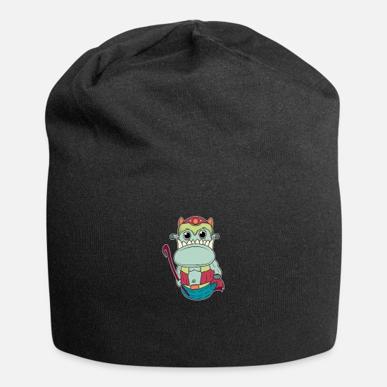 Clothing Caps - Monster Monster Go Away - Beanie black