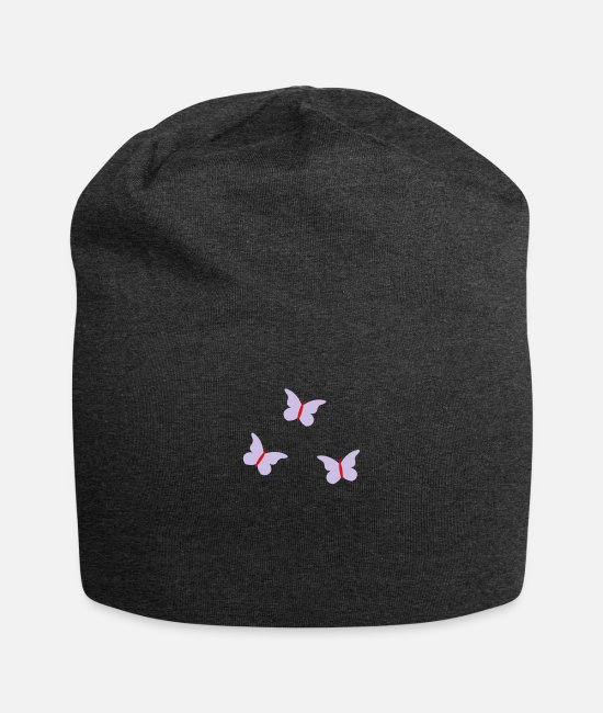 Garden Caps & Hats - 3 Butterflys - Beanie charcoal gray