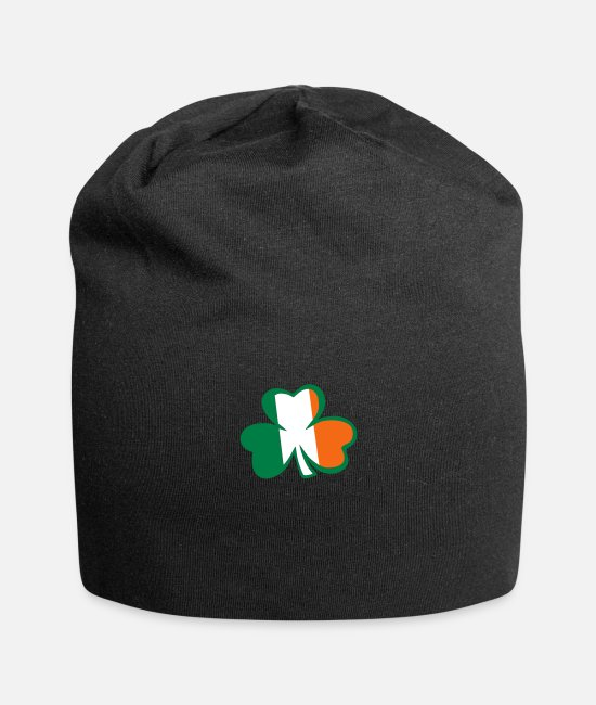Best Awesome Superb Cool Amazing Identity Caps & Hats - ♥ټ☘Rub the Irish Shamrock to Get Lucky☘ټ♥ - Beanie black