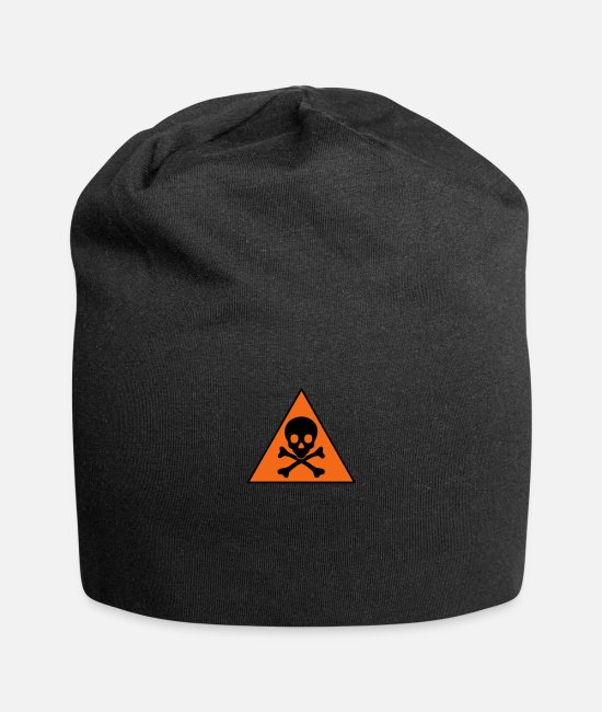 Warning Caps & Hats - warning skull_vec_2 us - Beanie black
