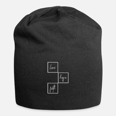 Black Heart love - hope - faith - box - Beanie