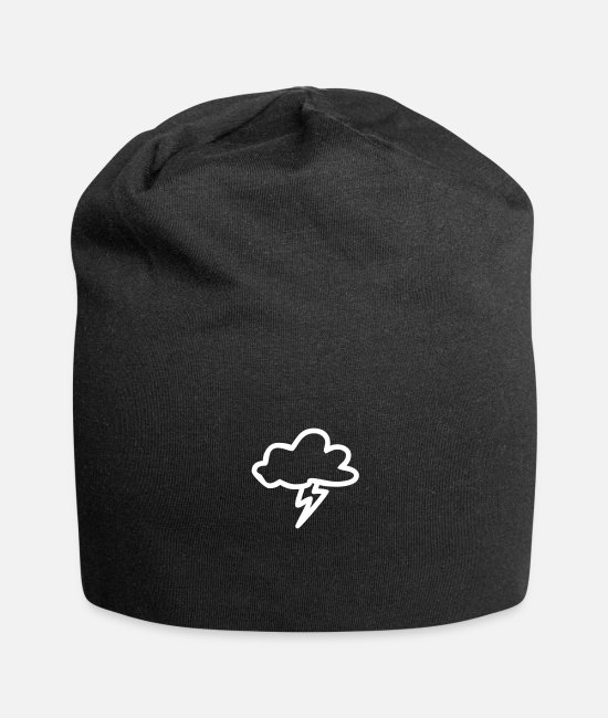 Weather Caps & Hats - Lightning Cloud - Beanie black