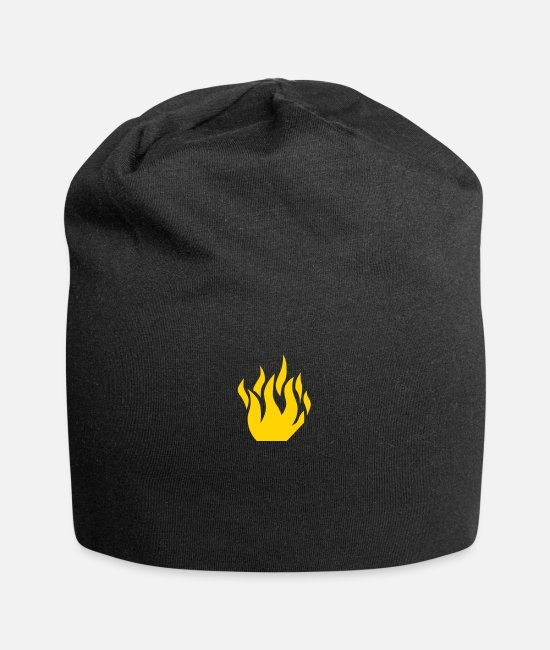 Wicked Smart Caps & Hats - Flame (flock print) - Beanie black