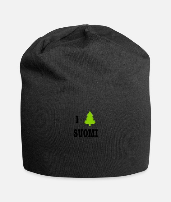 Nature Caps & Hats - I heart Suomi - Finland - Beanie black