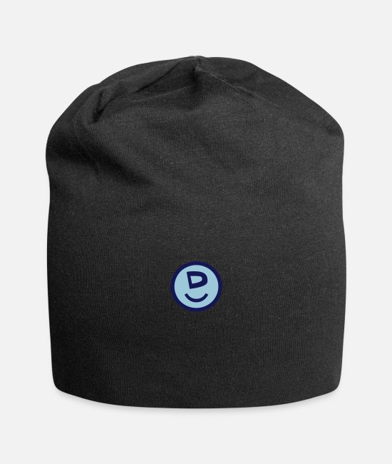 Caps & Hats - ♥☺↷Happy Smiley Alphabet Initial Letter-D↶☺♥ - Beanie black