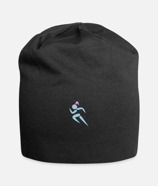 Design Caps & Hats - ❤✦Sexy Female Sprinter Wearing a Pony tail✦❤ - Beanie black