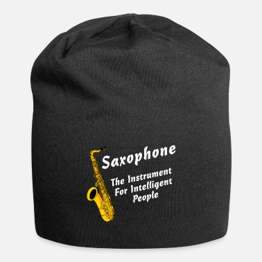 Conceited Intelligent Saxophone White Text - Beanie
