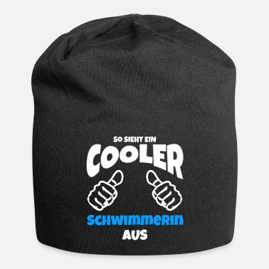 Swimmer swimmer cool thumbs up gift - Beanie