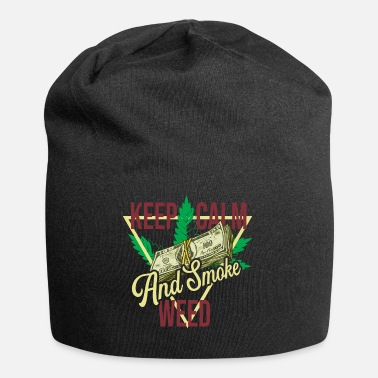 Smoke Weed Keep Calm And Smoke Weed - Beanie