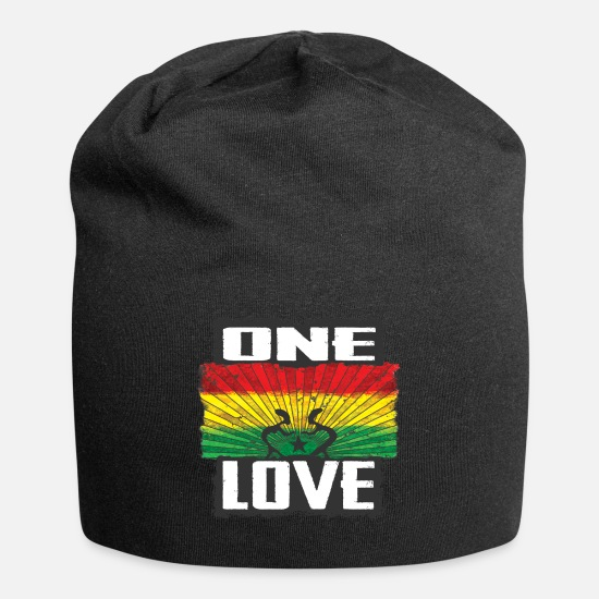 Love Caps - one love reggae - Beanie black