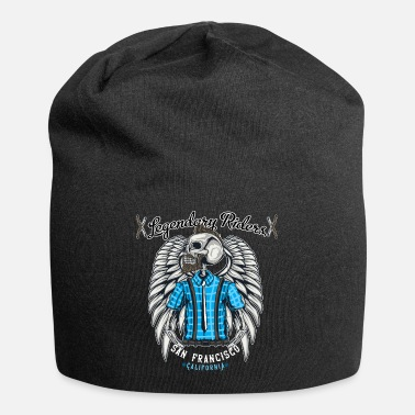 Wings Barber Barber skeleton with angel wings. - Beanie